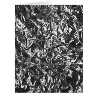 Aluminium foil texture greeting card