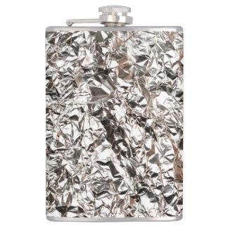 Aluminium foil texture hip flask