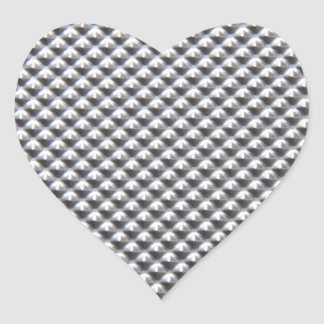 aluminium heart sticker