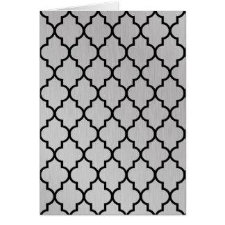 Aluminium Moroccan Quatrefoil Pattern Greeting Card