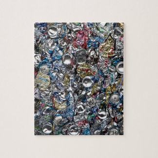 Aluminum Cans Being Recycled Puzzle