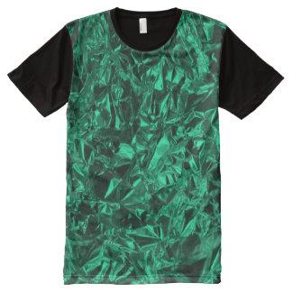 Aluminum Foil Design in Teal All-Over Print T-Shirt