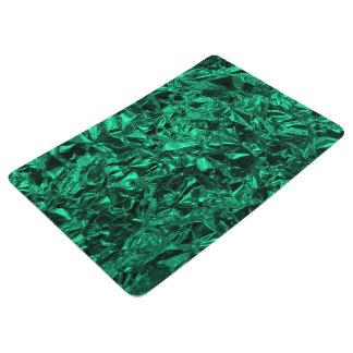 Aluminum Foil Design in Teal Floor Mat