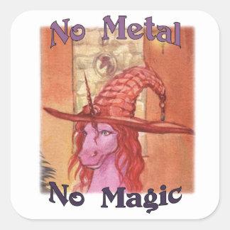 Alumna No Metal No Magic Stickers
