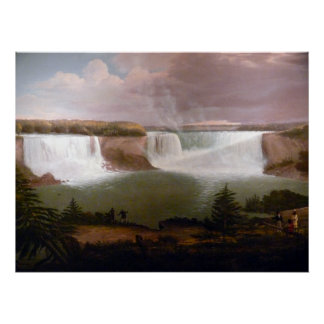Alvan Fisher General View of the Falls of Niagara Poster