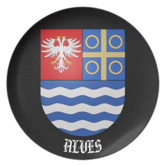 Alves Family Coat of Arms Custom Plate