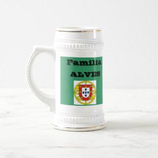 Alves* Family (Portugal) Beer Stein Mug