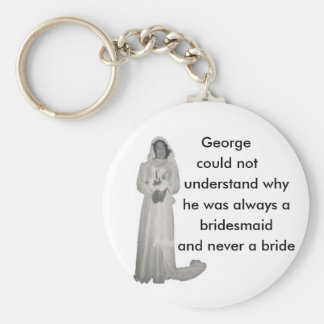 Always a bridesmaid basic round button key ring