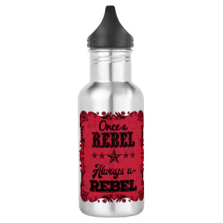 Always a Rebel Personalized Water Bottle (Silver)