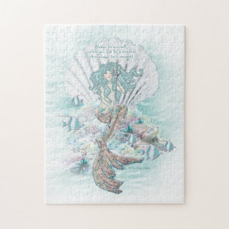 """""""Always Be a Mermaid"""" - Anais Nin quote puzzle"""