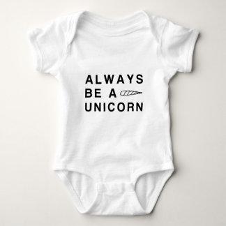 Always be a unicorn baby bodysuit