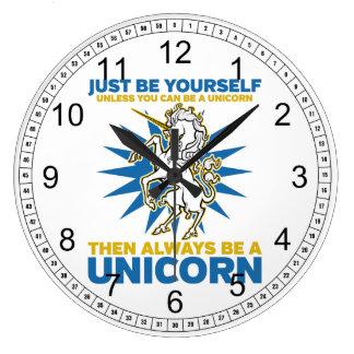 Always be a Unicorn Wallclock