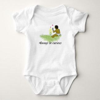 Always be curious baby bodysuit