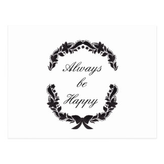 Always be Happy Postcard