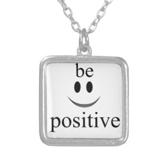 always be positive silver plated necklace