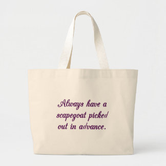 Always be ready to blame someone else for your fai jumbo tote bag