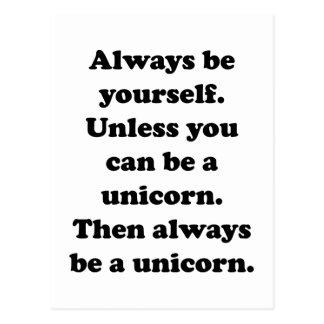 Always Be Yourself Unicorn Postcard