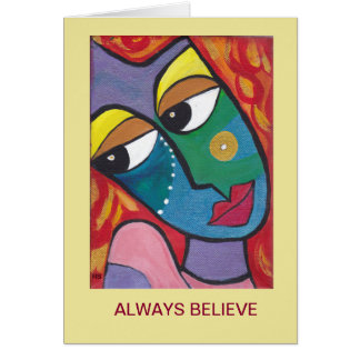 Always Believe Inspirational Greeting Card