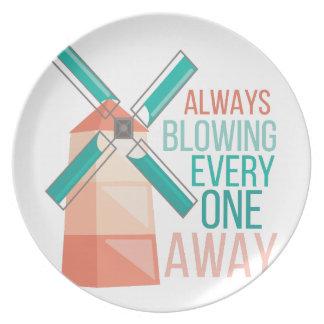 Always Blowing Dinner Plate