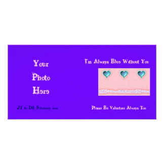 Always Blue Without You Valentine Photo Card