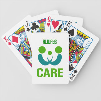 always care bicycle playing cards