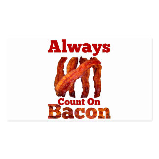 Always Count On Bacon! Business Card Templates