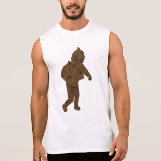 Always explore gold scuba dude hand drawn design sleeveless shirt