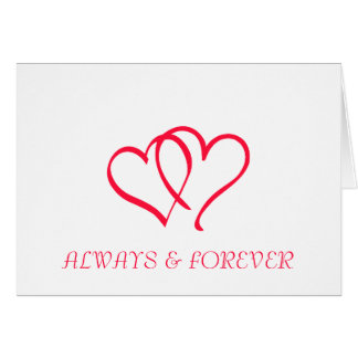 ALWAYS & FOREVER GREETING CARD