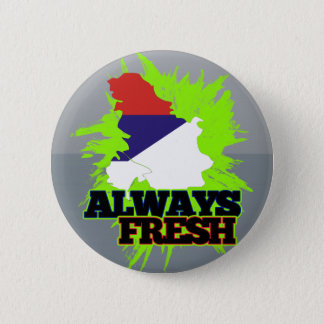 Always Fresh Serbia 6 Cm Round Badge
