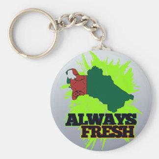 Always Fresh Turkmenistan Keychain
