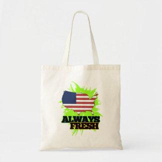 Always Fresh United States Of America Budget Tote Bag