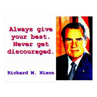 Always Give Your Best - Richard Nixon Postcard