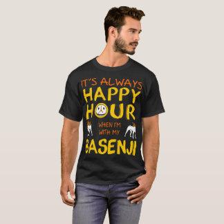 Always Happy Hour When With My Basenji Dog Tshirt