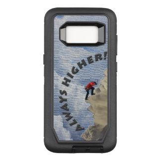 Always Higher! Gray Design OtterBox Defender Samsung Galaxy S8 Case