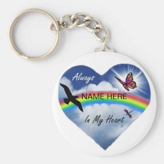 Always In My Heart Basic Round Button Key Ring