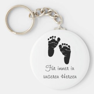 Always in our hearts basic round button key ring
