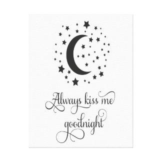Always Kiss Me Good Night Wall Art
