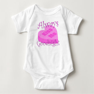 Always Kiss Me Goodnight (Baby) Baby Bodysuit