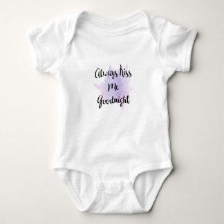 Always Kiss Me Goodnight Baby Bodysuit