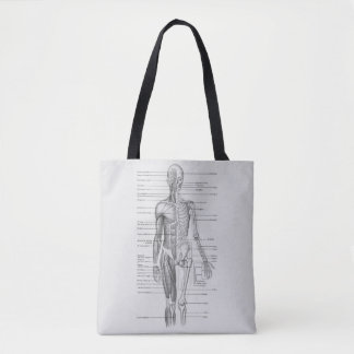Always Learning: Human Body Anatomy Chart Tote Bag
