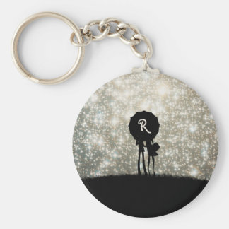 Always look on the bright side of life! basic round button key ring