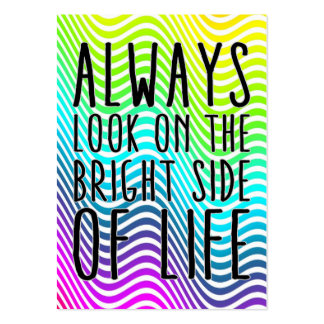 Always look on the bright side of life business card