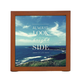 Always Look on the Bright Side of Life / Seascape Desk Organisers