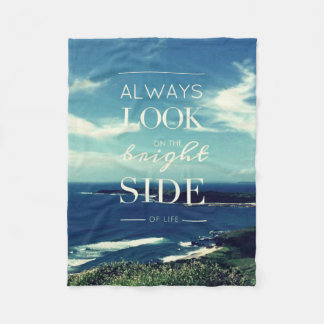 Always Look on the Bright Side of Life / Seascape Fleece Blanket