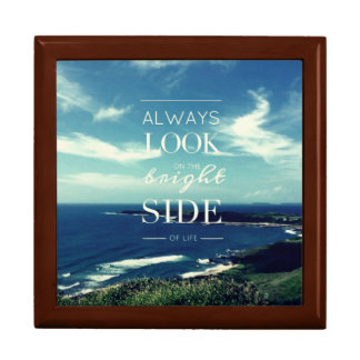 Always Look on the Bright Side of Life / Seascape Large Square Gift Box