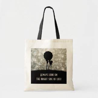 Always look on the bright side of life! budget tote bag
