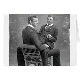Always Love Our Playtime Vintage Gay Lovers photo Card