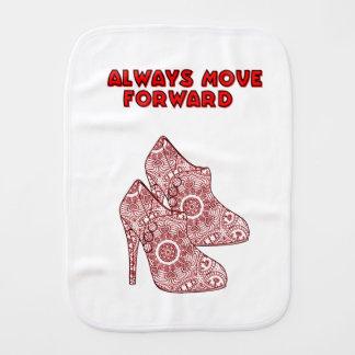 Always Move Forward Burp Cloth
