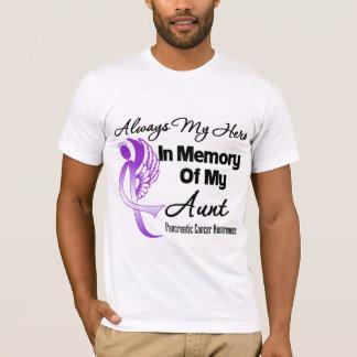 Always My Hero In Memory Aunt - Pancreatic Cancer T-Shirt