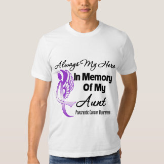Always My Hero In Memory Aunt - Pancreatic Cancer T Shirts